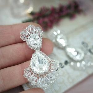Brillae kolczyki ślubne