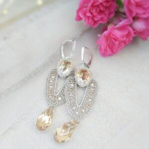 Vestiya gold kolczyki ślubne