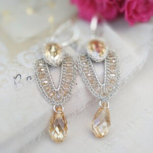 Kolczyki ślubne Vestiya gold